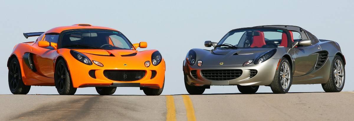 Lotus cars on road
