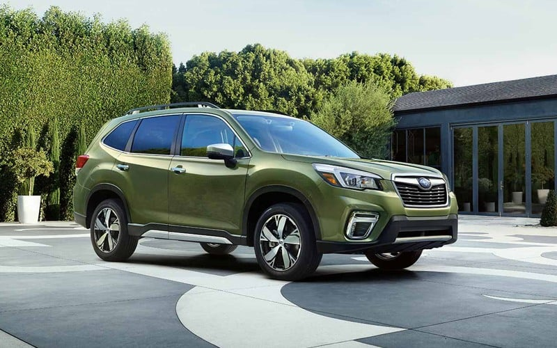 2019 Subaru Forester front 3/4 view