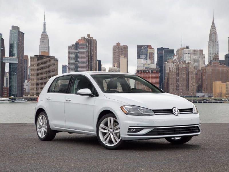 Volkswagen Golf front 3/4 view