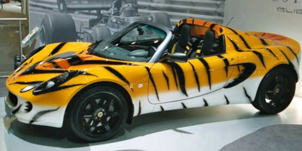 Lotus Elise Tiger cool car wraps