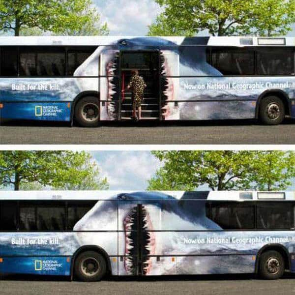 National Geographic Shark bus wrap