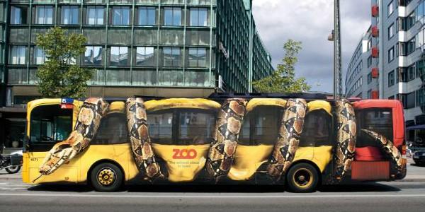 Snake Bus cool car wraps