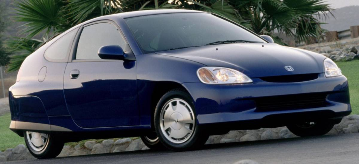 2000 Honda Insight - right front view