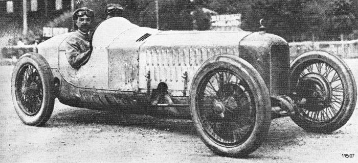 Alfa Romeo racing driver Ugo Sivocci in his P1