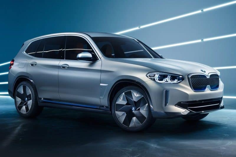 2020 BMW iX3 front 3/4 view