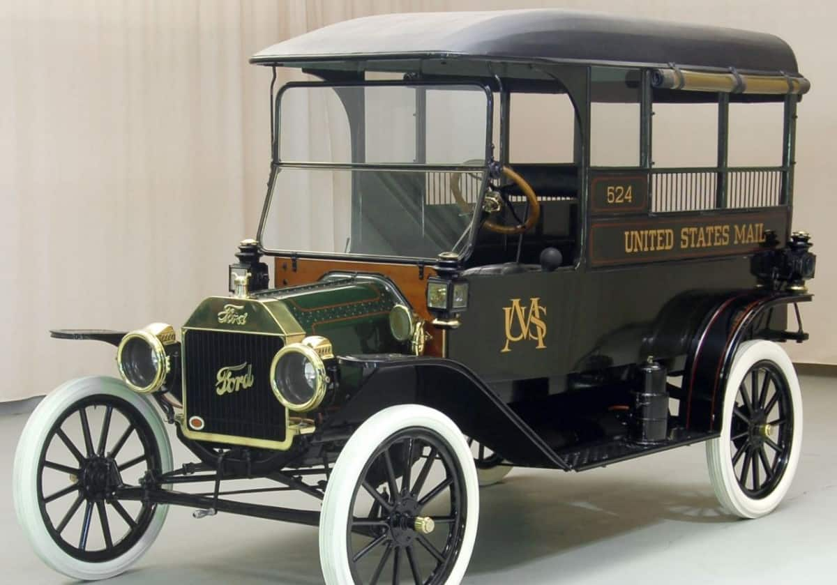 1913 Ford Model T Mail Truck - left front view