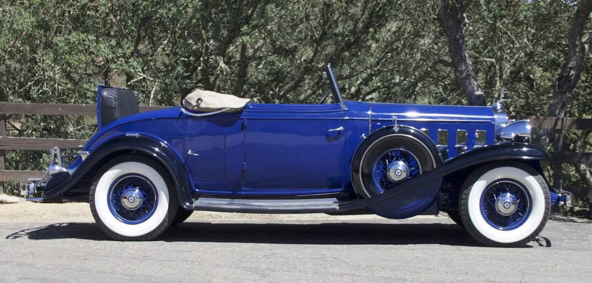 1932 Cadillac 370B Convertible Coupe - right side view