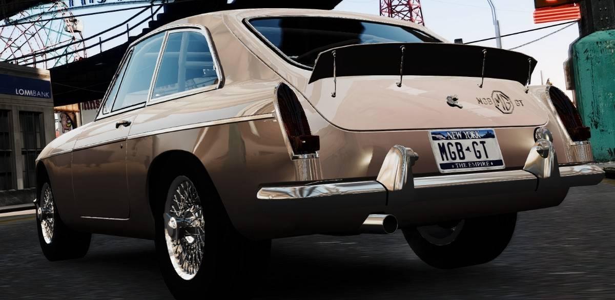 1965 MGB-GT - rear view