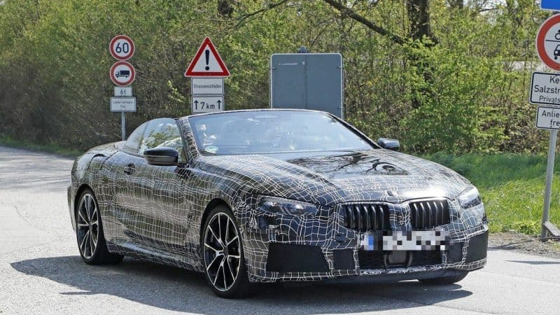 BMW 8 Series convertible test mule