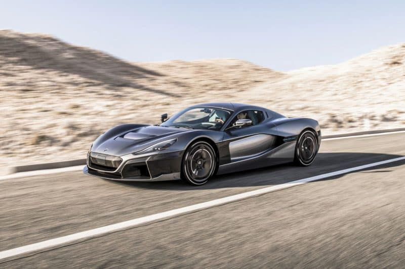 2020 Rimac C_Two front 3/4 view