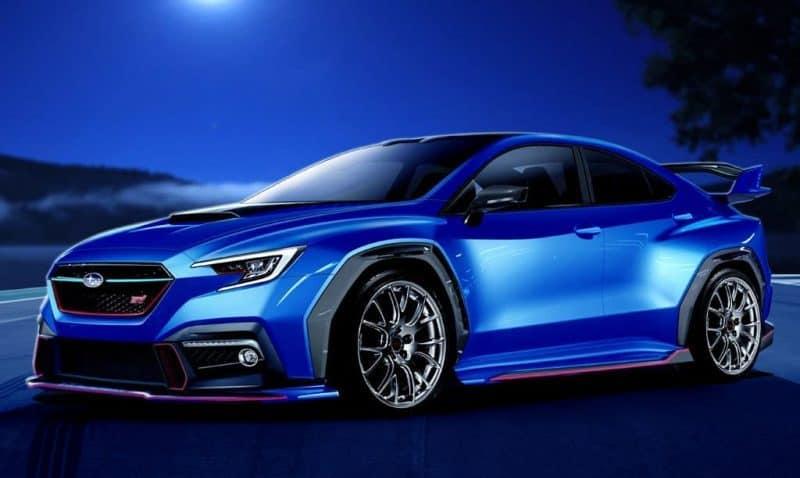 Subaru WRX hatchback rendering