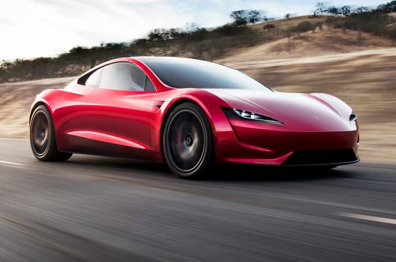 Next-gen Tesla Roadster front 3/4 view