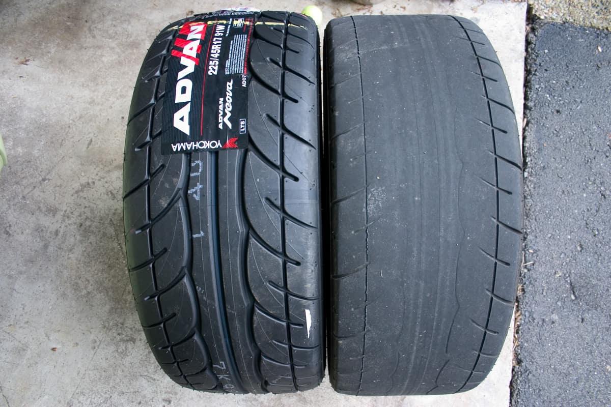 worn tires vs healthy tires