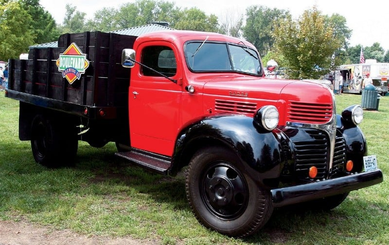 1947 Dodge Flatbed Truck - right front view