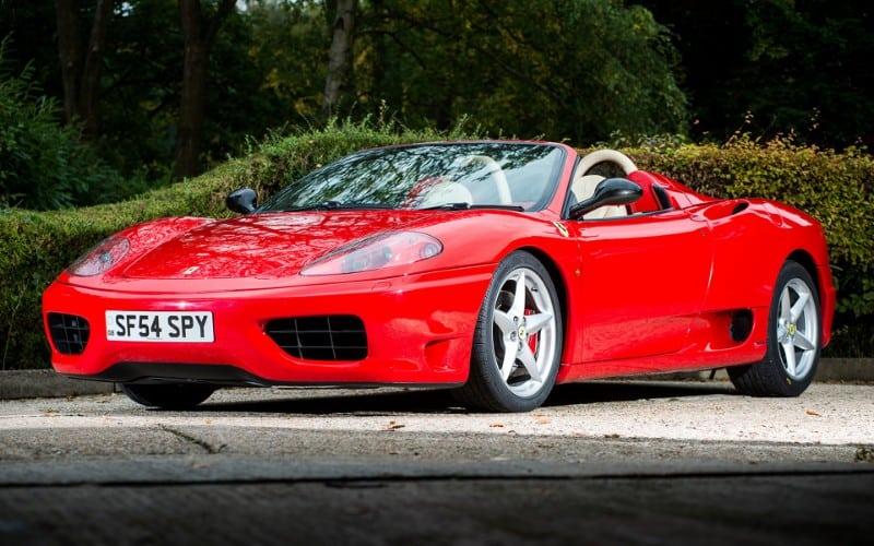2000 Ferrari 360 Spider - front view