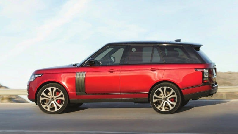 2017 Range Rover - left front view