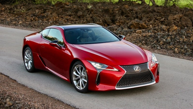 2018 Lexus LC 500 - right front view