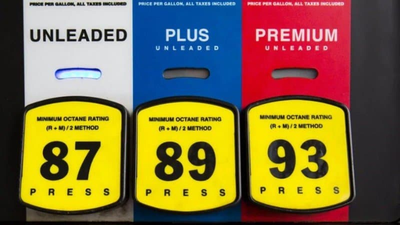 fuel grades at pump