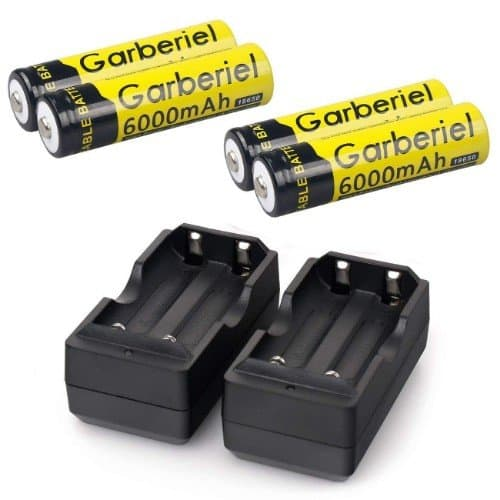 HeCloud 18650 Rechargeable Batteries with Charger