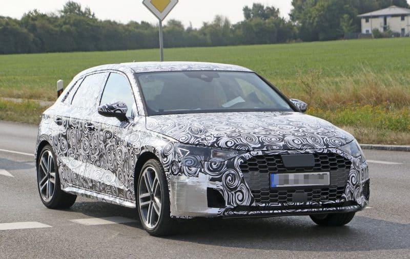 Audi S3 hatchback test mule