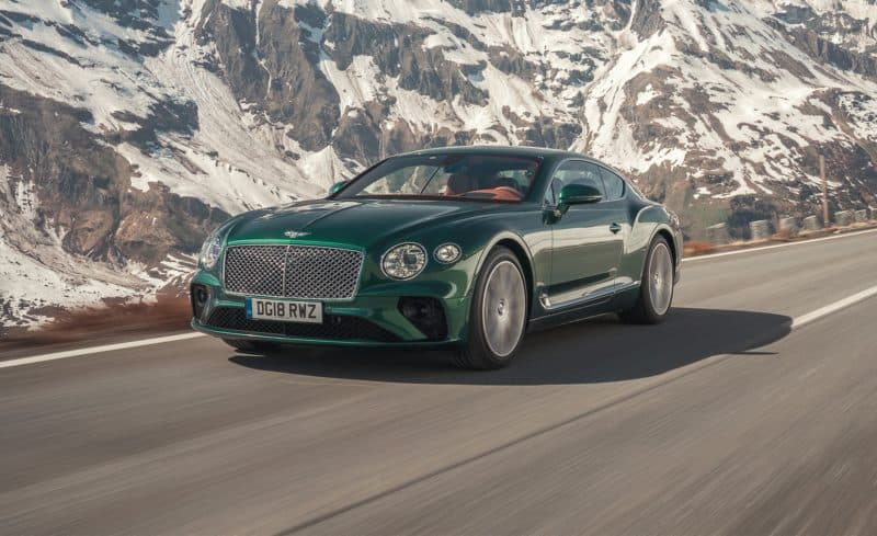 Bentley Continental GT front 3/4 view
