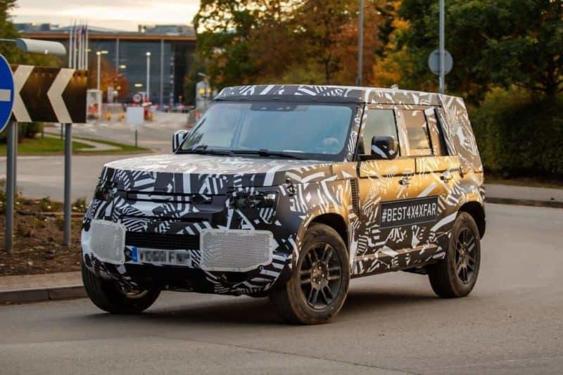 Land Rover Defender test mule