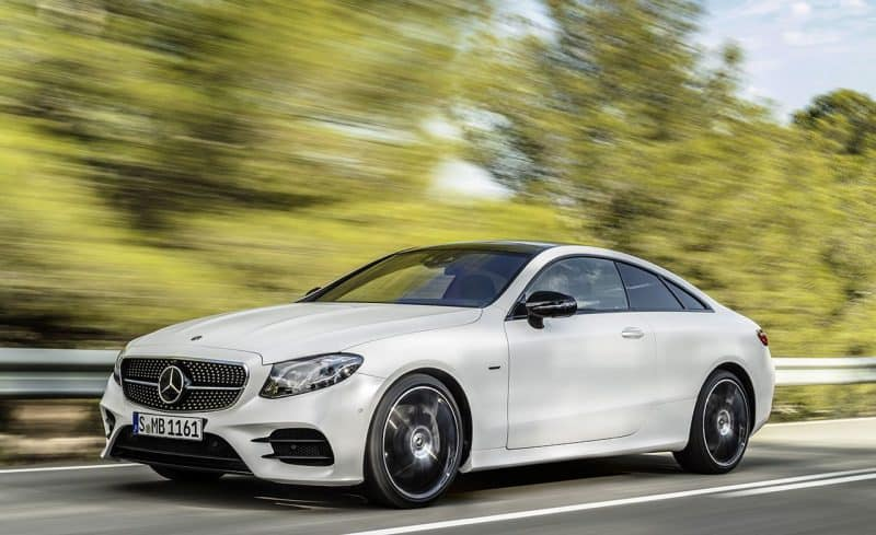 Mercedes-Benz E Class coupe front 3/4 view
