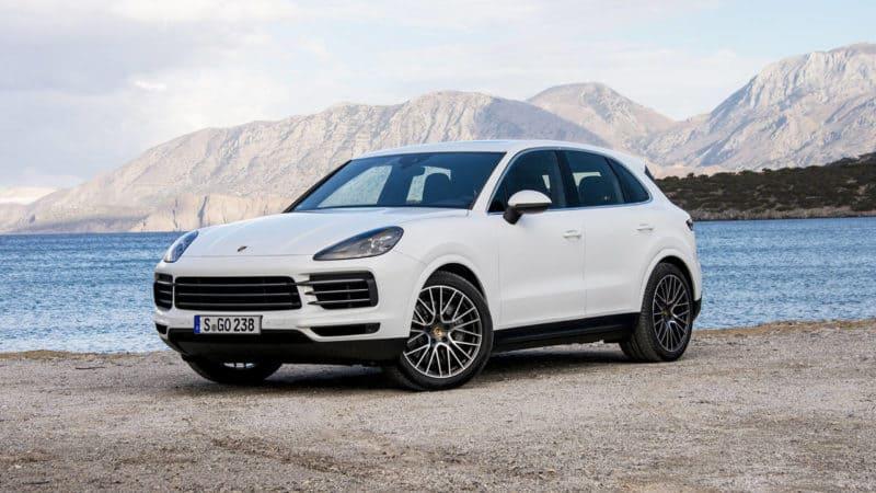 Porsche Cayenne front 3/4 view
