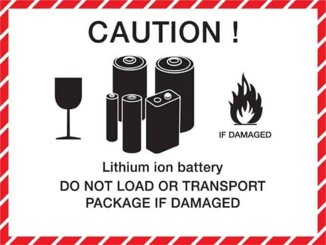 18650 battery warning