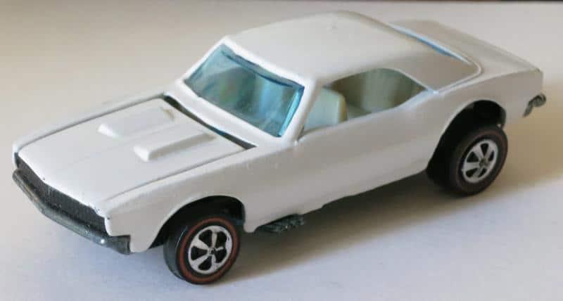 1968 White Enamel Camaro - Hot Wheels