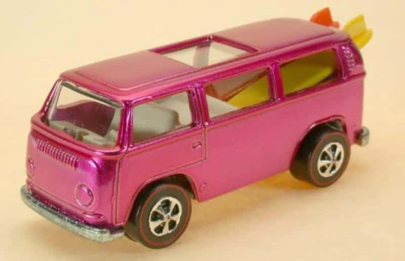 1969 Pink Rear-Loading Volkswagen Beach Bomb