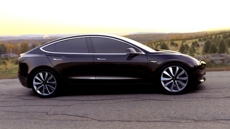 2018 Tesla Model 3 - passenger side view