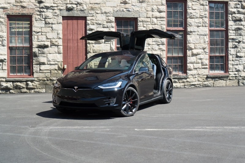 2018 Tesla Model X 100D - front view