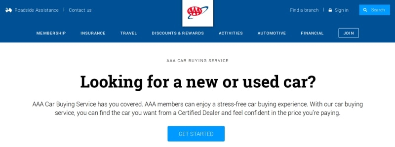 AAA car buying service