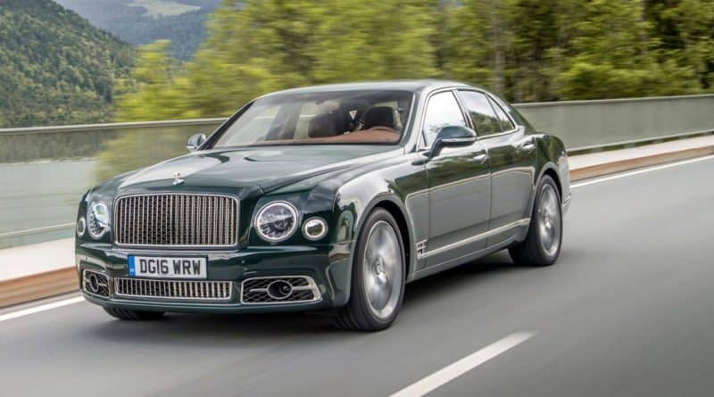 Bentley Mulsanne front 3/4 view