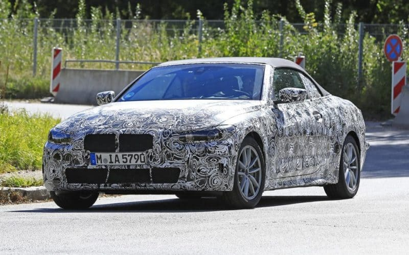 BMW 4 Series Convertible test mule