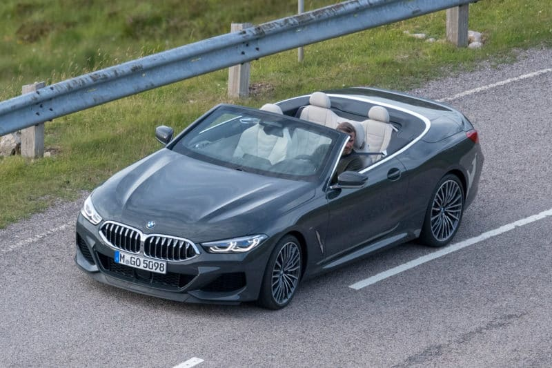 2020 BMW 8 Series Convertible front 3/4 view