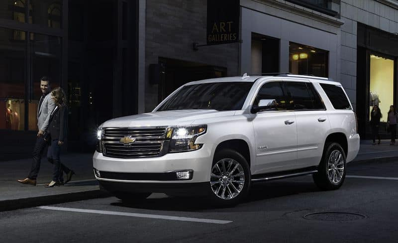 Chevrolet Tahoe front 3/4 view