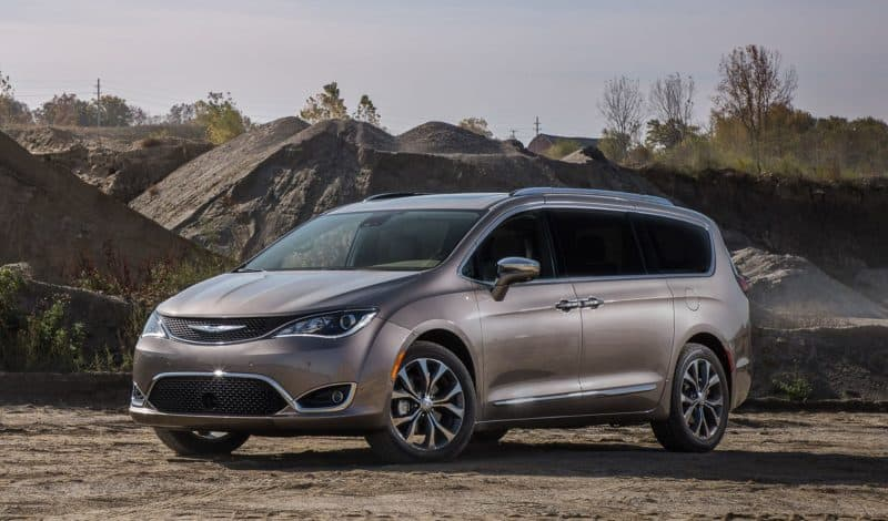 Chrysler Pacifica front 3/4 view