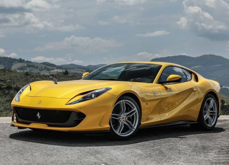 Ferrari 812 Superfast front 3/4 view
