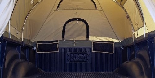 storage capability of truck tent